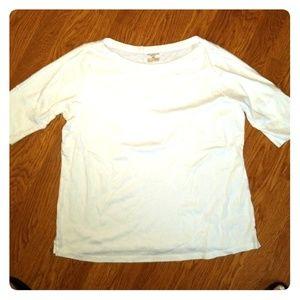 Jones New York white 3/4 sleeve shirt